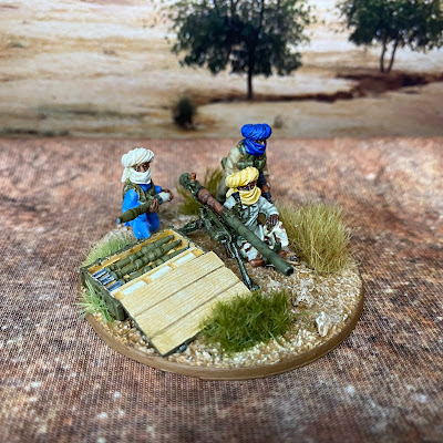 Eureka Miniatures 28mm Afghan recoiless rifle used as African Islamic terrorist insurgents