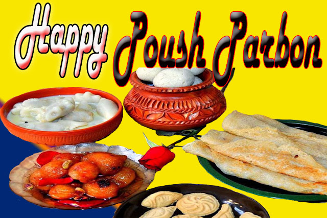 Happy Poush Parbon Wallpaper