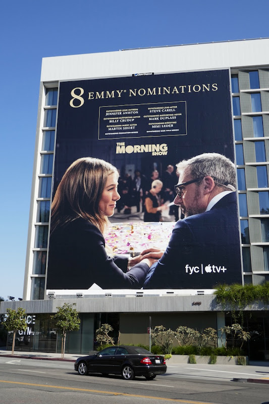 Giant Morning Show 2020 Emmy nominee billboard