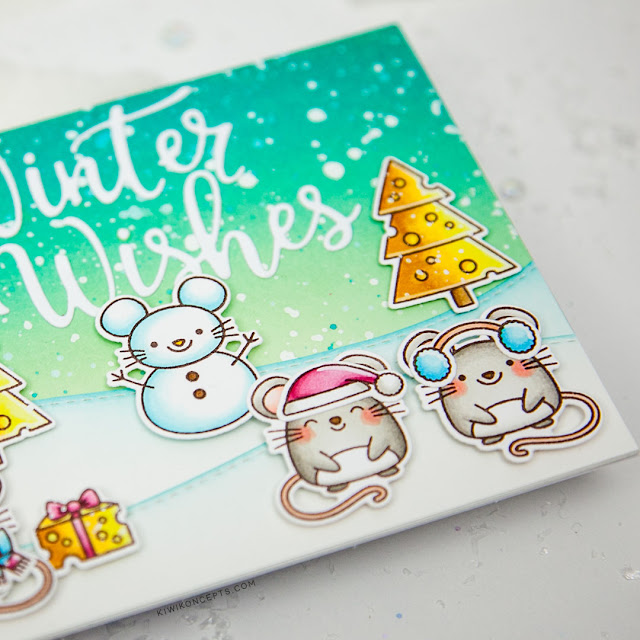 Sunny Studio Stamps: Merry Mice Santa Claus Lane Christmas Garland Frame Dies Layered Snowflake Frame Dies Winter Themed Holiday Cards by Keeway Tsao