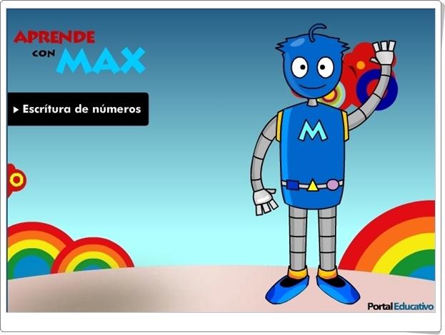 """Aprende con Max: """"Escritura de números del 11 al 19"""" (Juego de Matemáticas de Primaria)"""