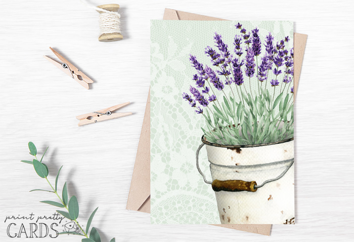 Printable Lavender Cards
