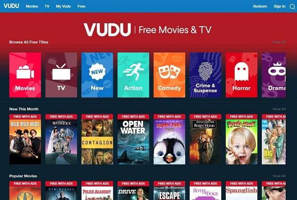 vudu free movie streaming