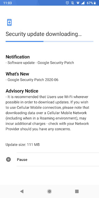 Nokia 3.1 receiving June 2020 Android Security patch
