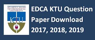 EDCA KTU Question Paper Download 2017, 2018, 2019