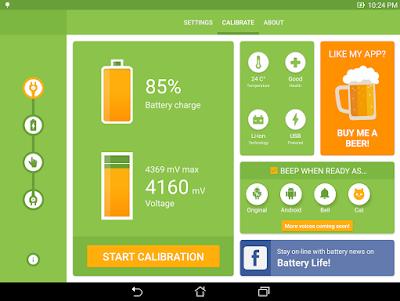 kalibrasi baterai semua tipe hp