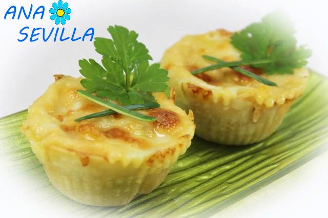 Pastelitos de merluza y gambas cocina tradicional Ana Sevilla