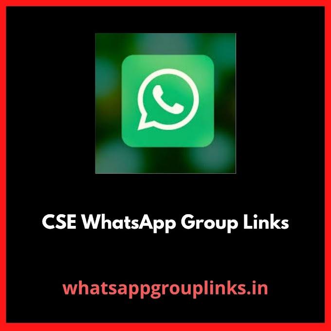 CSE Whatsapp Group Links