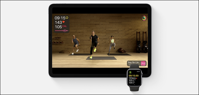 Fitness + يعمل على iPad و Apple Watch