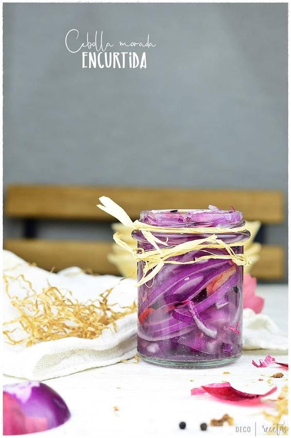 Cómo hacer cebolla morada encurtida (cebolla en vinagre)+5 recetas con cebolla morada