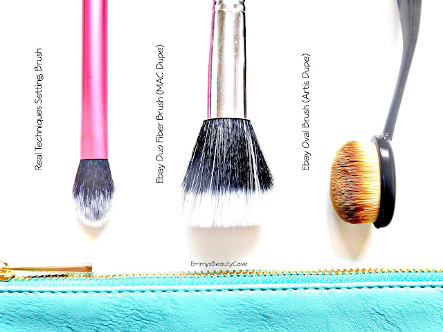 budget makeup brushes, multi use makeup brushes, artis oval makeup brush dupe