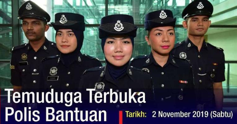Temu Duga Terbuka untuk Jawatan Konstabel (Unit Khas) dan Konstabel Polis Bantuan Bank Negara Malaysia