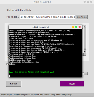 Proses Instalasi File Alldeb