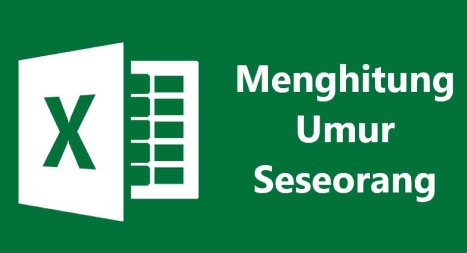 Cara menghitung umur di Excel dengan rumus matematika umum