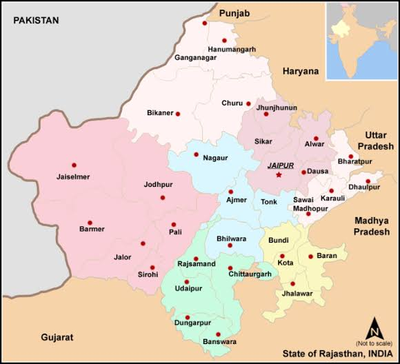 राजस्थान की भौगोलिक अवस्थिति ,Geographical location of Rajasthan,राजस्थान के अक्षांश एवं देशांतर ,राजस्थान की स्थलीय सीमा व स्थिति ,राजस्थान एवं उसके पड़ौसी राज्य ,राजस्थान के जिले, संभाग ,राजस्थान की स्थिति एवं विस्तार, राजस्थान की भौगोलिक अवस्थिति ,location of Rajasthan