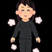 防寒肌着を着た人のイラスト(女性)