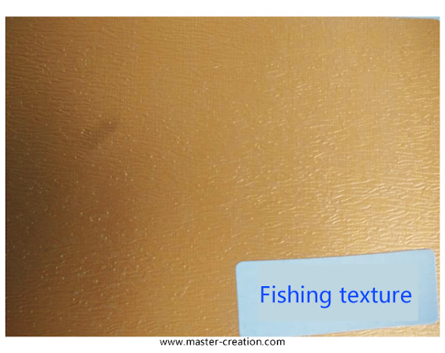 fishing grained paper