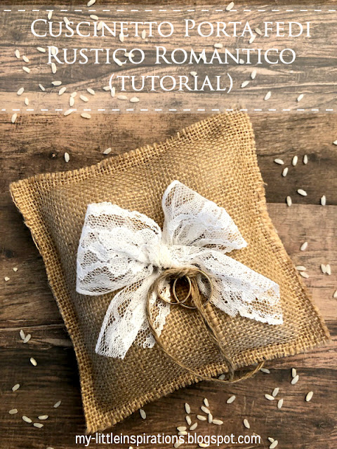 Cuscinetto Porta Fedi Rustico Romantico MLI - titolo