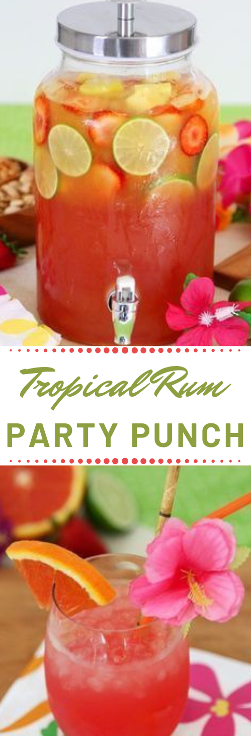 Tropical Rum Punch #party #cocktail #drink #fresdrink #smoothie