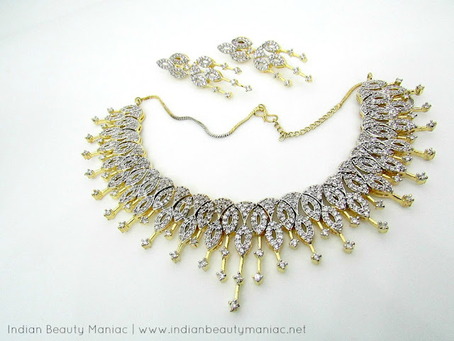 YouBella.com, American Diamond Jewelry, Online Shopping, Review, artificial jewelry