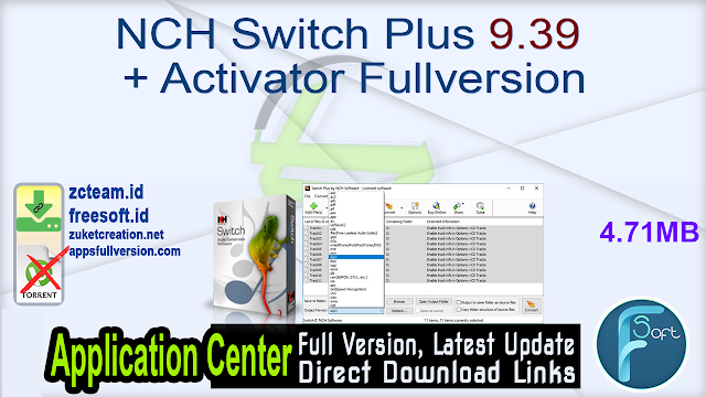 NCH Switch Plus 9.39 + Activator Fullversion