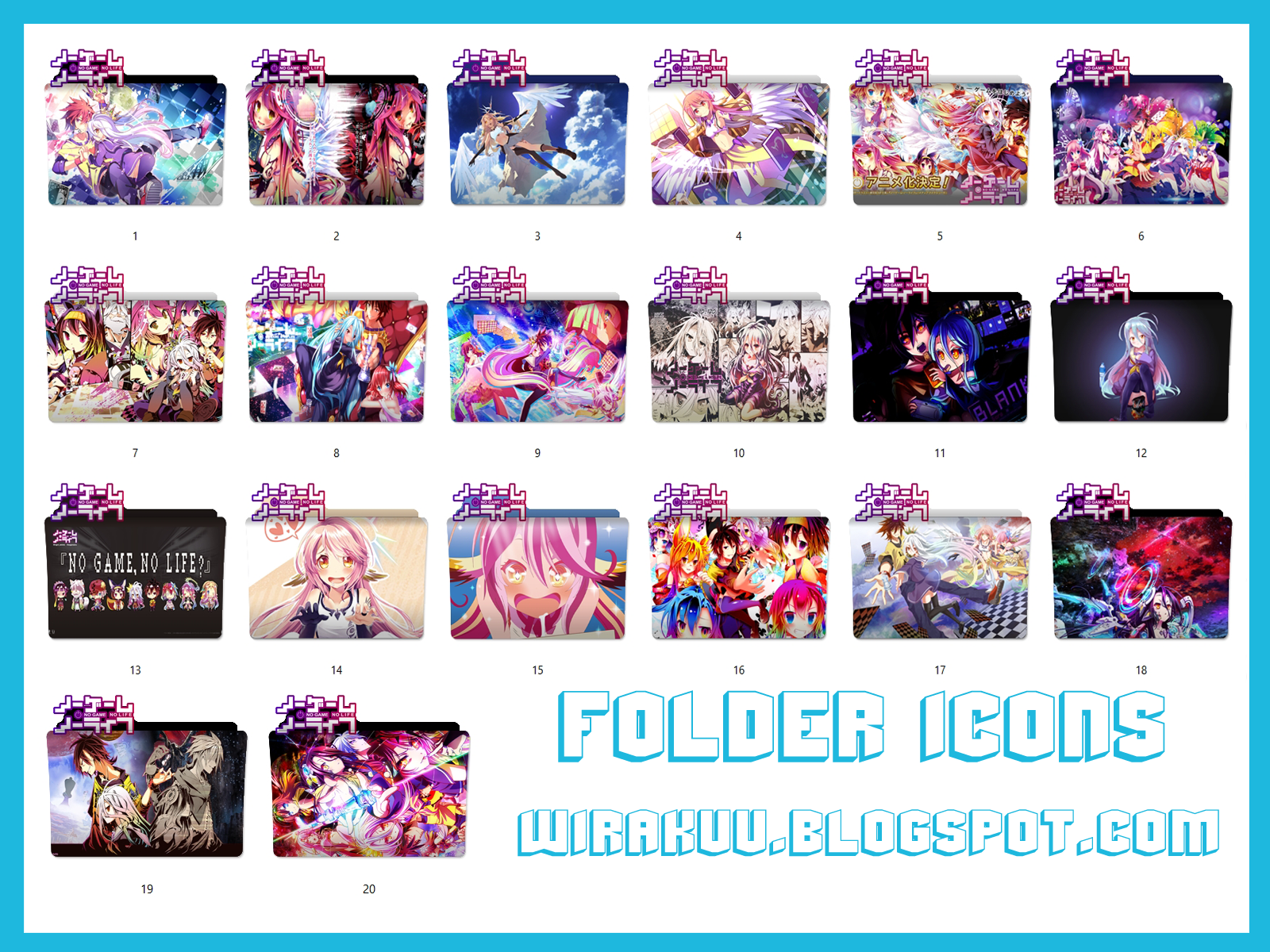 Folder Icons Anime No Game No Life