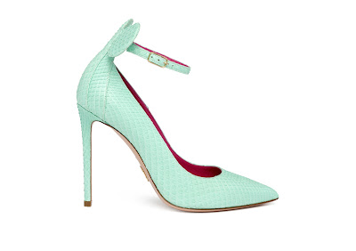 Oscar Tiye Spring Summer 2016 Minnie Pump Tiffany Matte Python