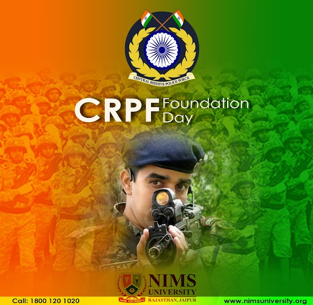 CRPF Foundation Day Wishes : Nims Chairman