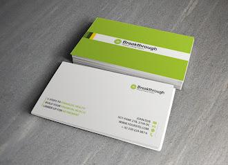 Fıstık yeşili arkasında beyaz bir şerit olan beyaz bir kartvizit