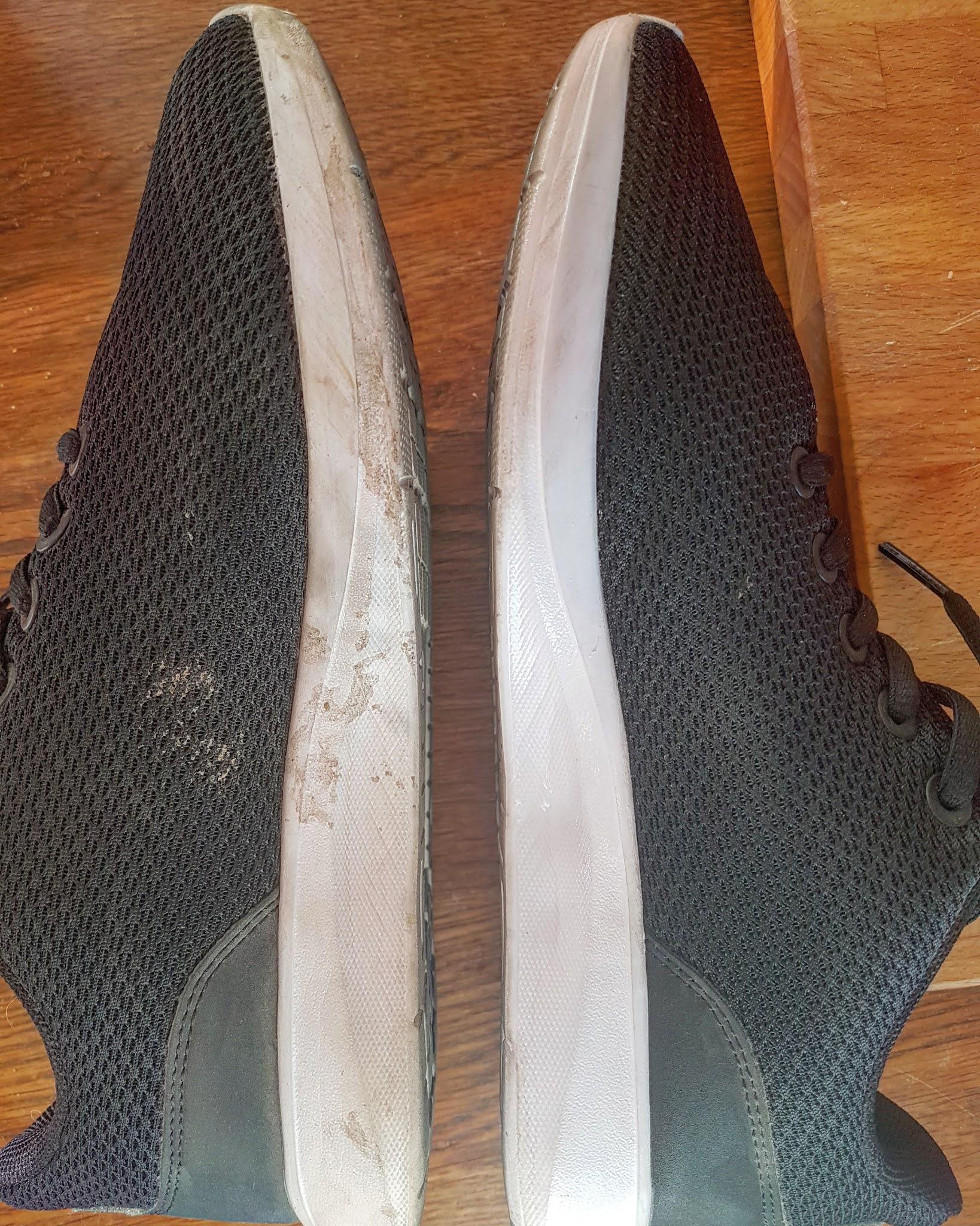 Putsa vita skor rena giftfritt och hållbart Saras Eviga