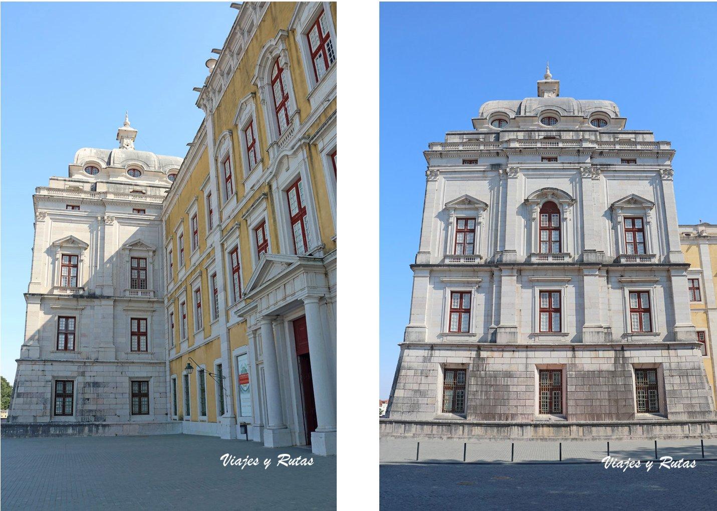 Detalles de la Fachada del Palacio de Mafra, Portugal