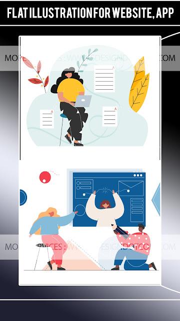 Flat illustration for website, app - Unicorn Startup Illustration Pack - Education Illustration Kit - Illustration Design Inspiration