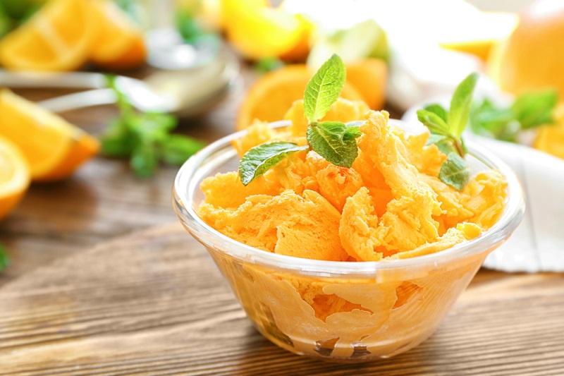 helado natural naranja sin maquina snacks saludables chuches lowcarb bajo carbohidratos receta frutas niños familia verano