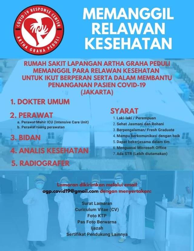 Loker Dokter RS Lapangan Artha Graha Peduli Jakarta