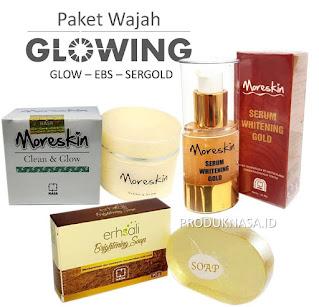 Paket Glowing 1 sergold erhsali soap serum gold moreskin