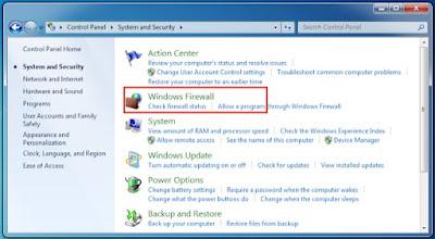 Nonaktifkan Windows Firewall 4