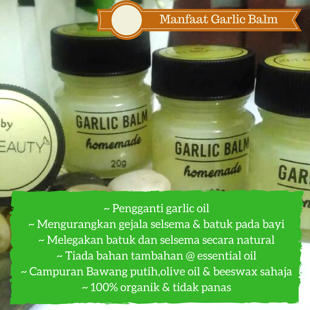 MANFAAT GARLIC BALM HOMEMADE