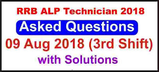 RRB ALP Technician Asked Questions 3rd Shift (9 Aug 2018)