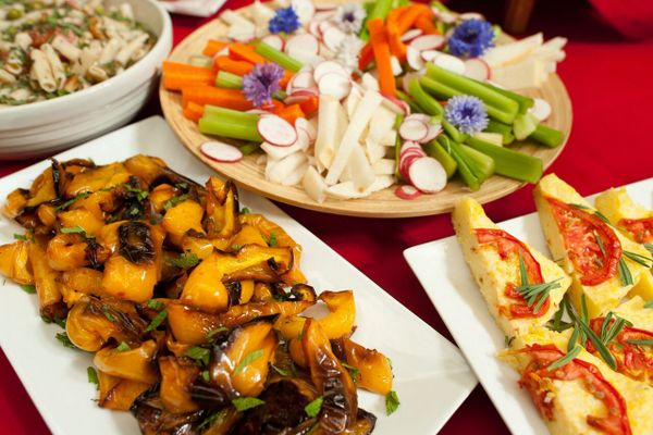 vegetarian dishes at Tassajara Zen Mountain Center in Carmel Valley California