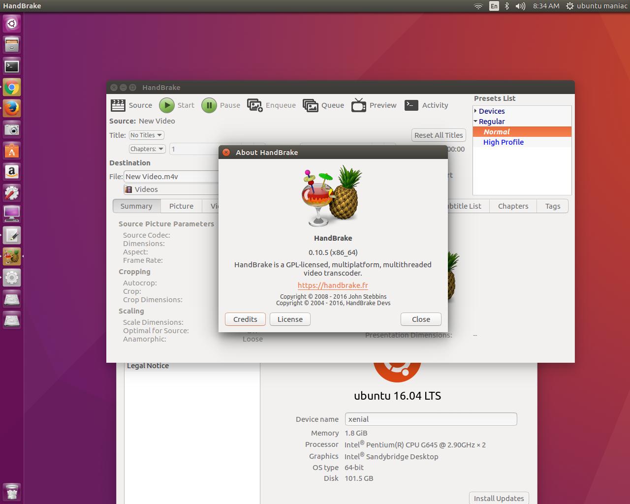 HandBrake 0 10 5 is Now Available PPA for Ubuntu 16 04