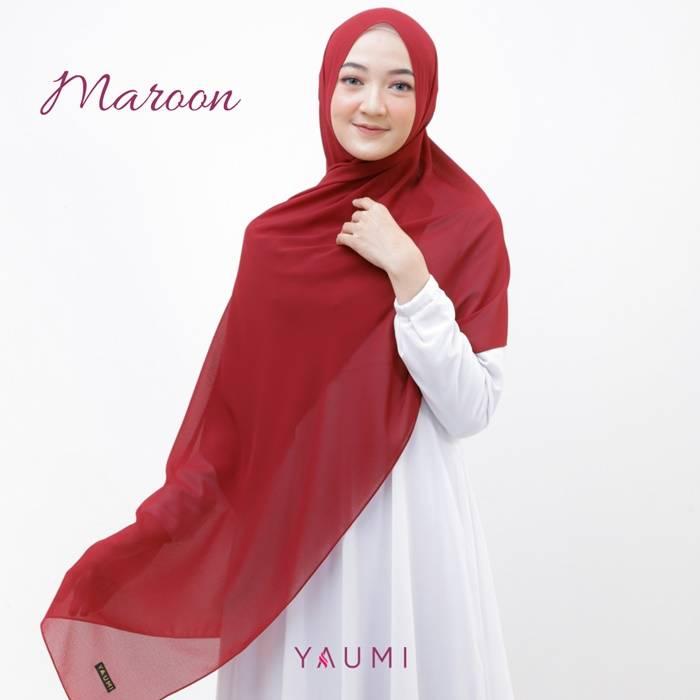 Yaumi Hijab Pashmina Maroon