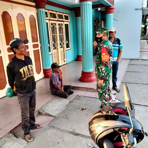 Tegakkan Disiplin Protkes Dilakukan Personel Jajaran Kodim 0207/Simalungun Diwilayah Binaan