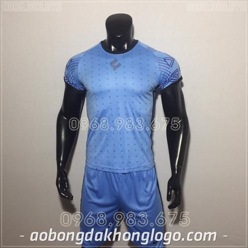 Áo bóng đá không logo Egan HQN Ala màu xanh