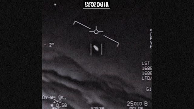 Imagem retirada de um dos vídeos divulgado pelo governo dos EUA mostrando o avistamento de OVNIS.