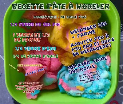 recette pâte à modeler DIY maison sel farine comestible naturelle montessori mamans assistantes maternelles assmat bébés enfants