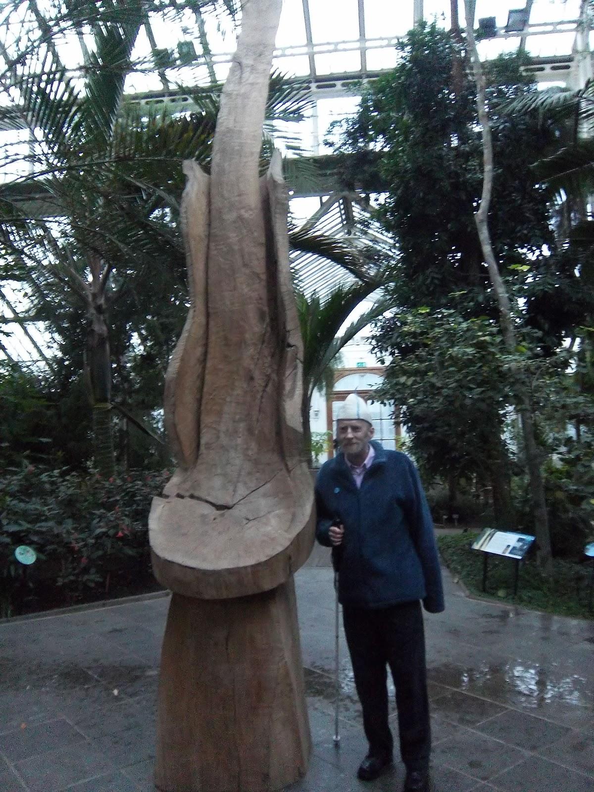 Professor Whitestick S Blog Kew Gardens David Nash Sculpture