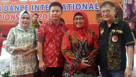 Ketua DPRD Padang Hadiri Pontianak Lion Dance International Championship 2019