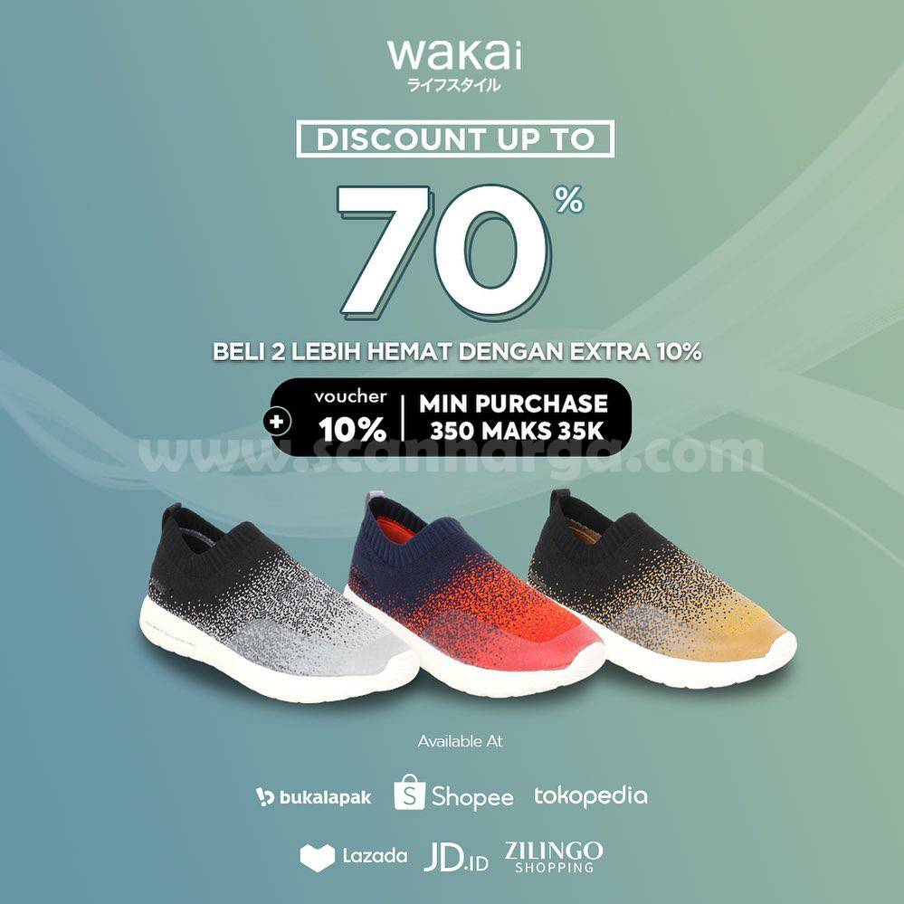Wakai Promo Special 10.10 Discount up to 70% di seluruh Market Place