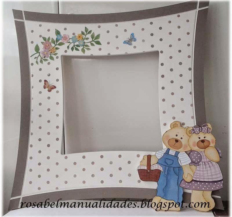 Rosabel manualidades: Marco de espejo para habitación infantil