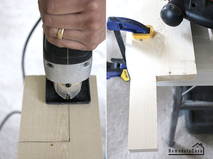 using the jig saw to trim sill